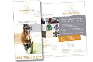 Flyer Reitsport Mode Kunze