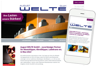Homepage responsive Design August Welte
